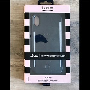 LuMee Duo Case for iPhone XS Max in Matte Black